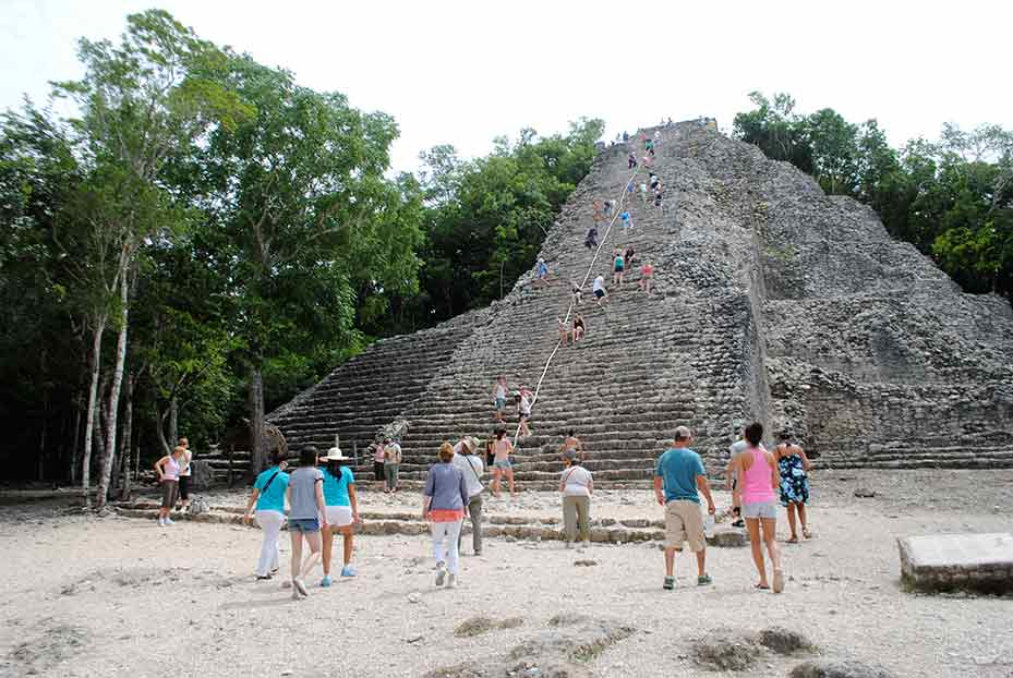 Cobá's Nohoch Mul pyramid