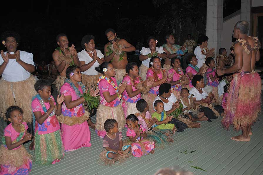 Meke dancers, Fiji