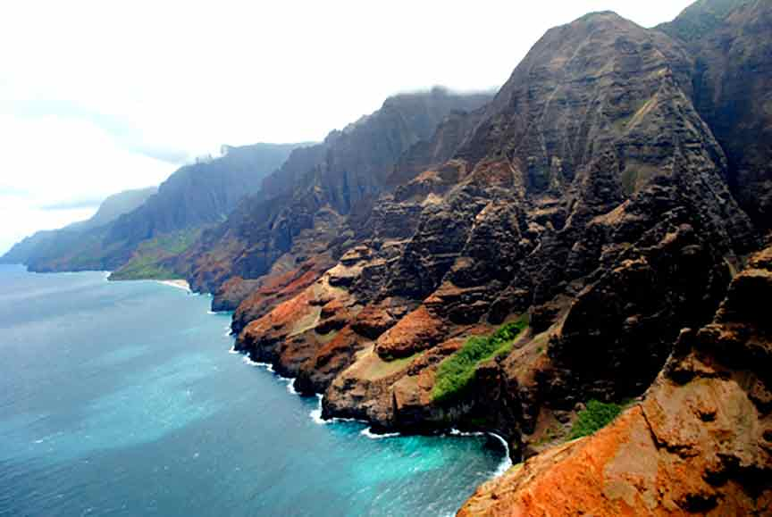 Napali coast and cliffs, Kauai