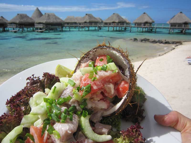 Poisson Cru, Hilton Moorea Lagoon Resort