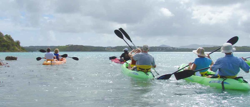 Kayaking in Antigua