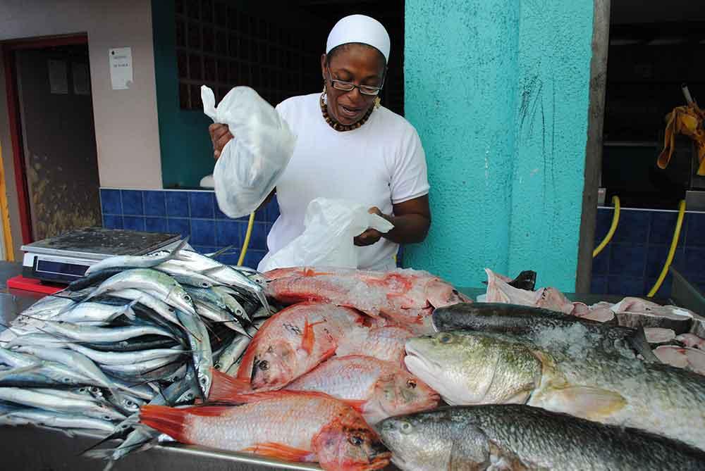 Fish market, Martinique