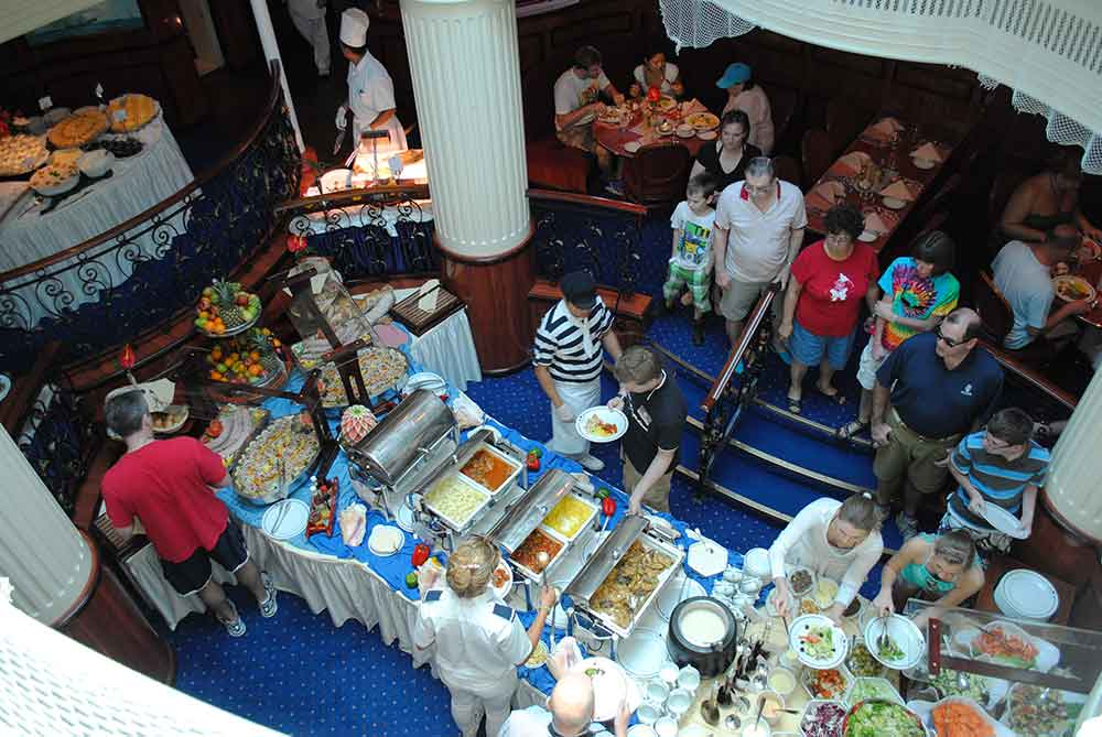 View of Lunch Buffet, Royal Clipper