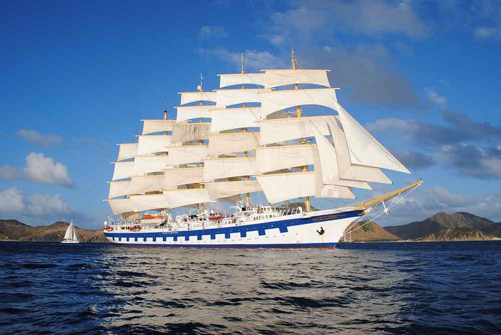 Royal Clipper ship under full sail