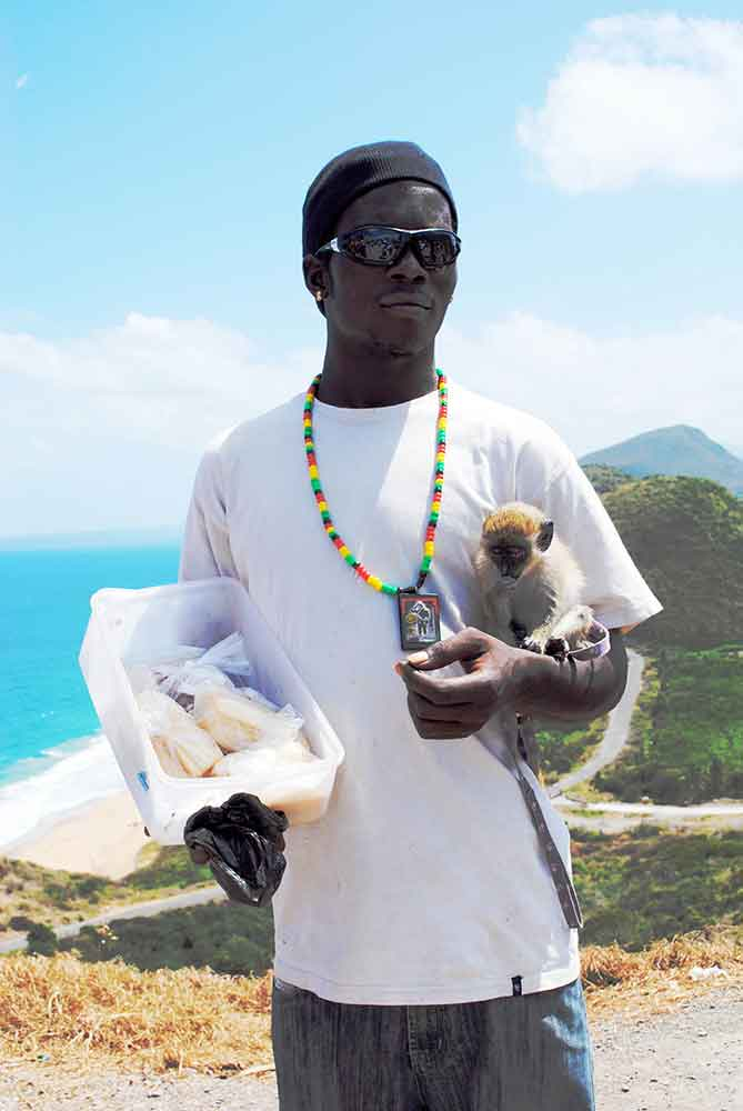 Boy with Monkey, St. Kitts