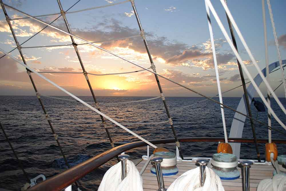 Sunset on Top Deck, Royal Clipper