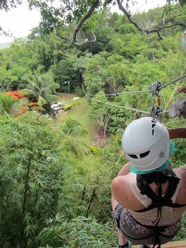 Ziplining at Chaguaramas, Trinidad