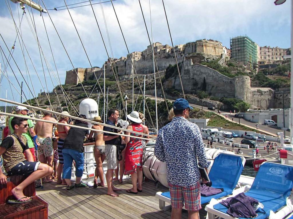 Coming into port, Bonifacio, Corsica