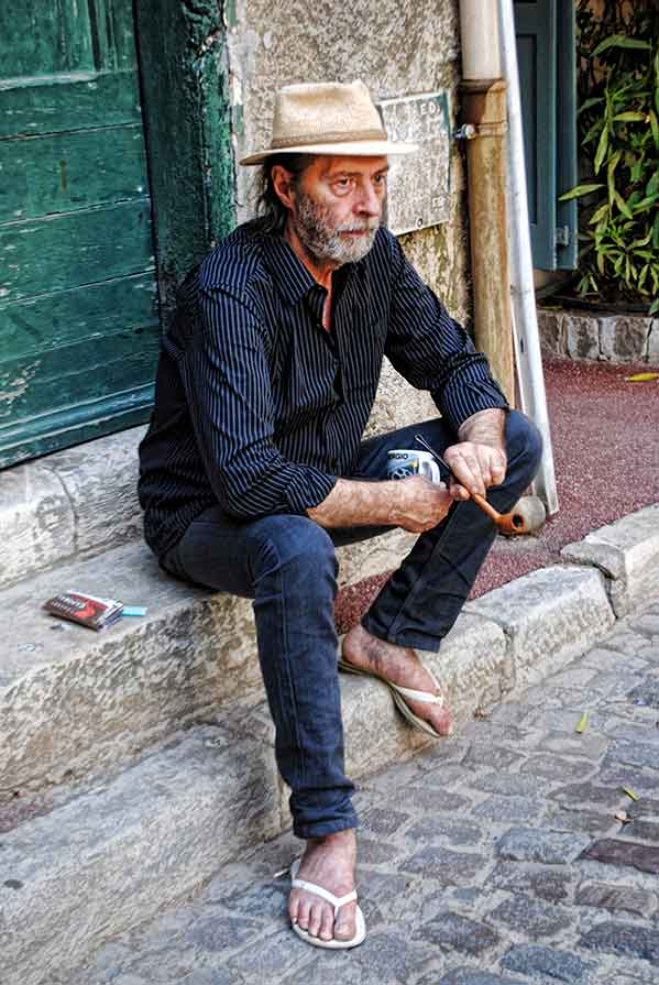 Man with pipe, St. Tropez, France