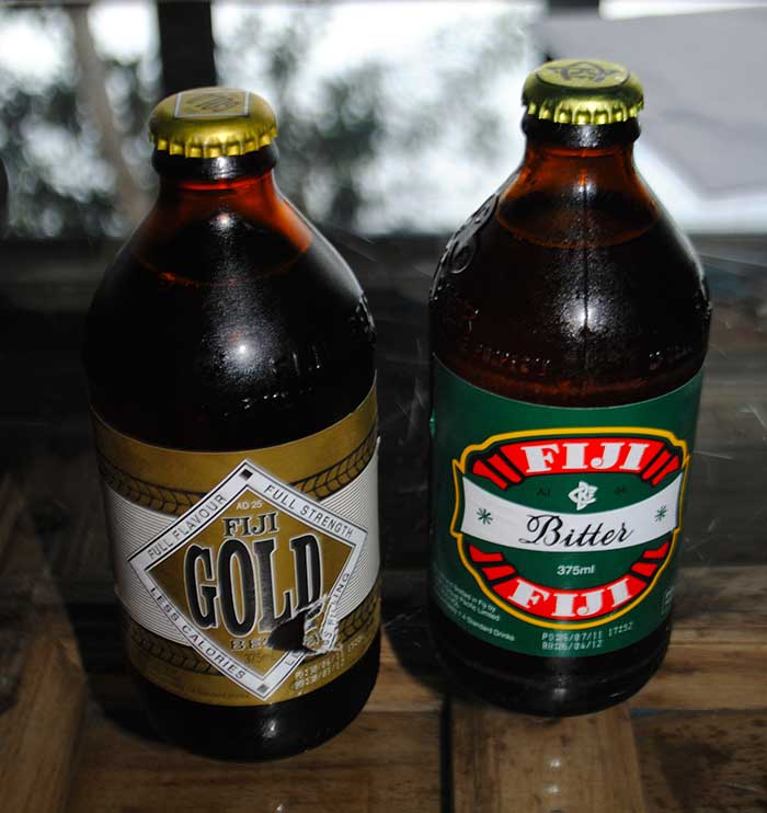 Fiji Bitter and Fiji Gold beer