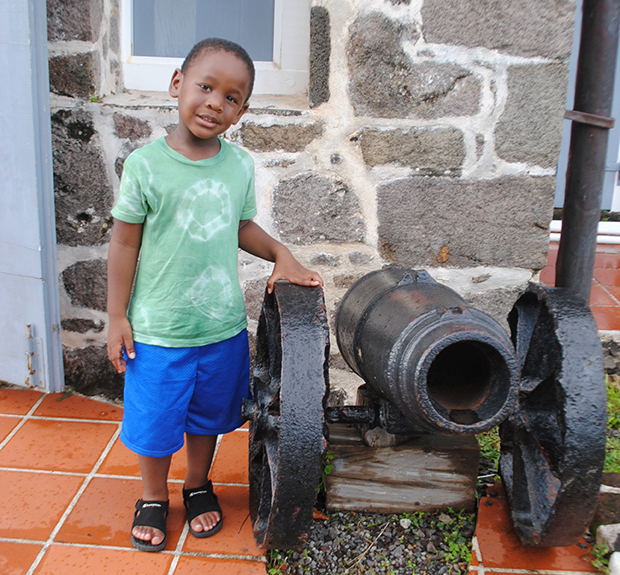 Dominican boy at Fort Harrison, Dominica