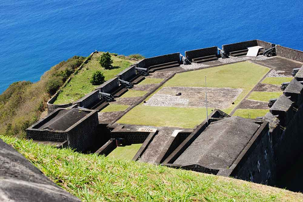 View from above, Brimstone Hill Fort, St. Kitts