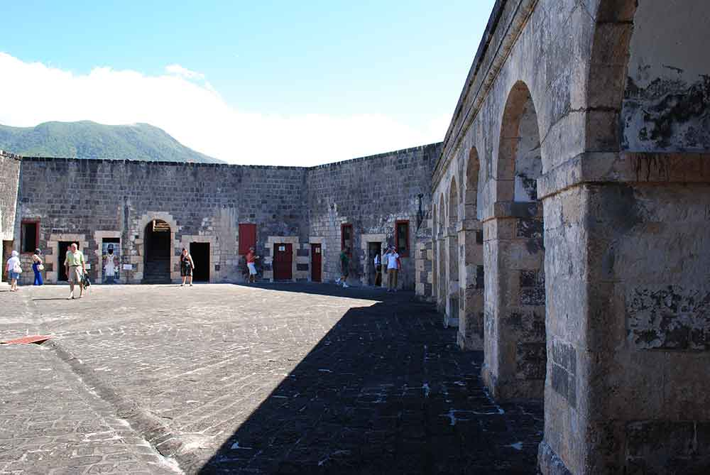 Inside the walls of Brimstone Hill Fort, St. Kitts