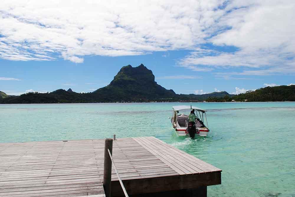 Mount Ote Manu and the main island of Bora Bora