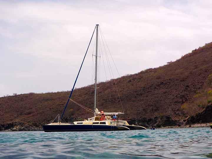 Nevis Sail & Snorkel aboard a 47' catamaran. (© Debbra Dunning Brouillette)