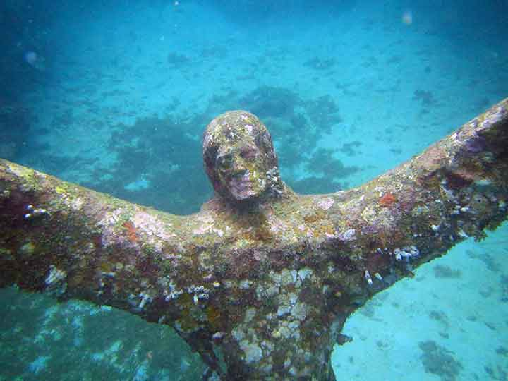 """Christ of the Deep"" sculpture (close-up) (Photo: Debbra Dunning Brouillette)"