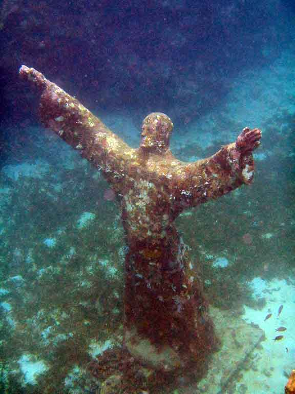 """Christ of the Deep"" sculpture (Photo: Debbra Dunning Brouillette)"