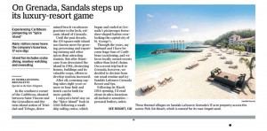 Sandals LaSource Grenada Article Page