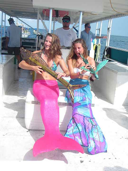 Mermaids playing instruments were part of the fun at the Underwater Music Festival.
