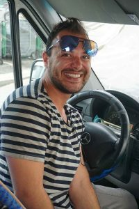 Our driver, Angelo. (Photo; Debbra Dunning Brouillette)