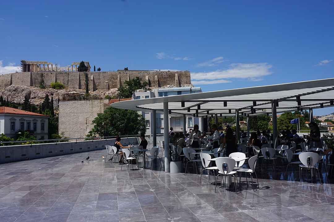 Acropolis Museum rooftop restaurant (Photo: Debbra Dunning Brouillette)