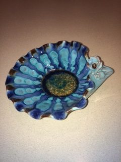 Handmade ceramic dish purchased at Kalipso. (Photo: Debbra Dunning Brouillette)
