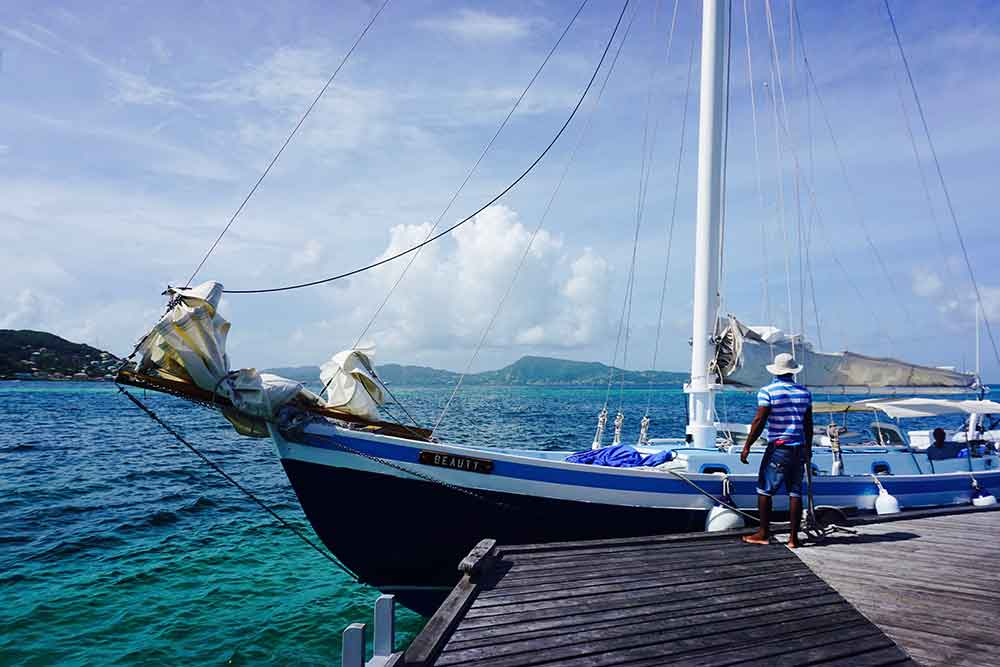 Petit St. Vincent's 49-foot sloop, Beauty