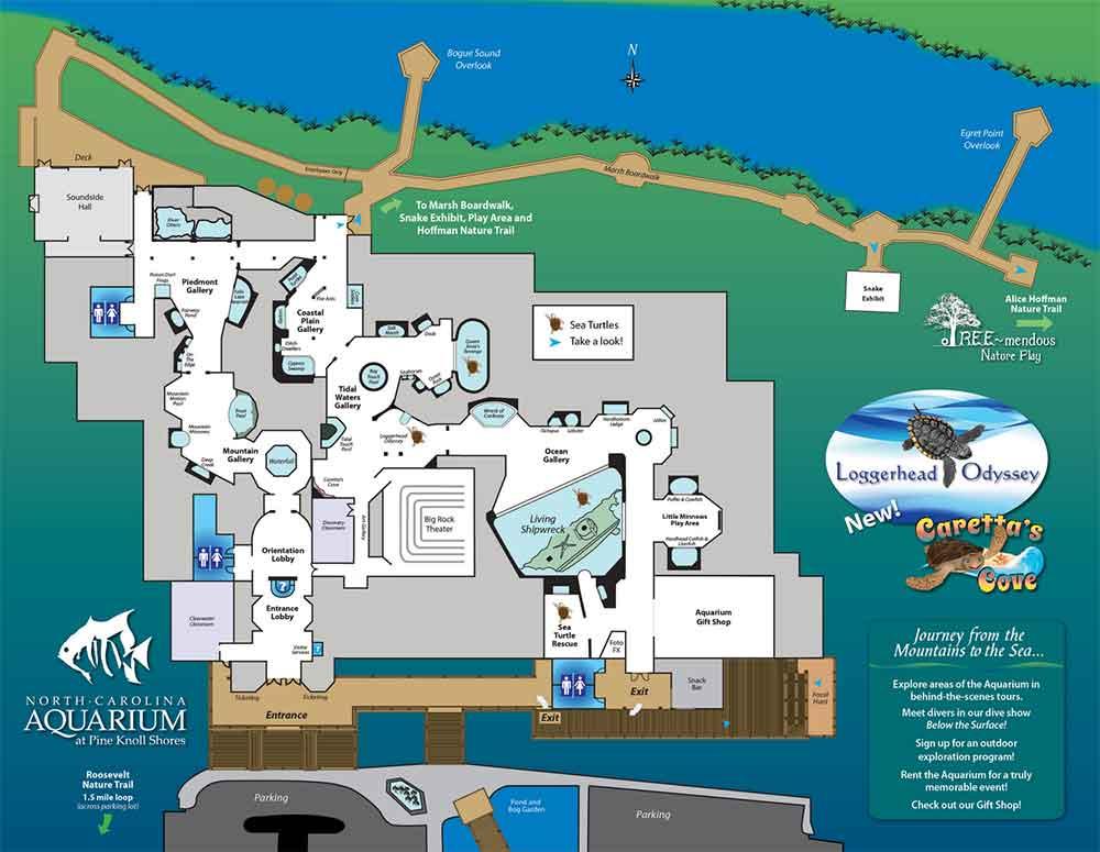Map - North Carolina Aquarium at Pine Knoll Shores