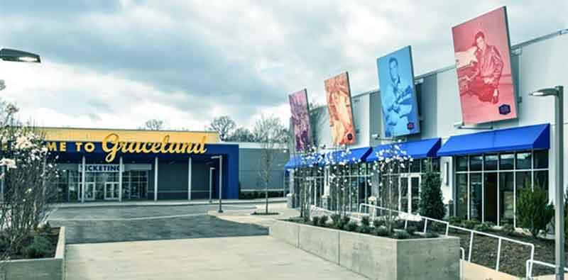 Elvis Presley's Memphis 200,000 square foot entertainment complex. (Credit: Graceland)