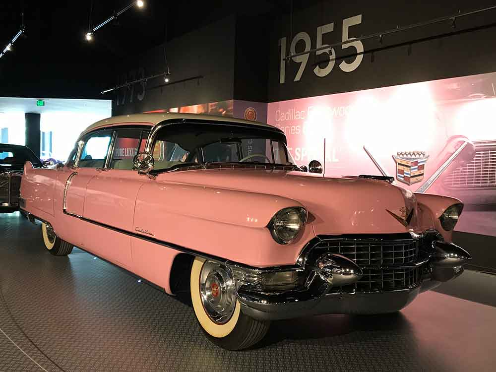See Elvis' 1955 Pink Cadillac in the Automobile Museum.