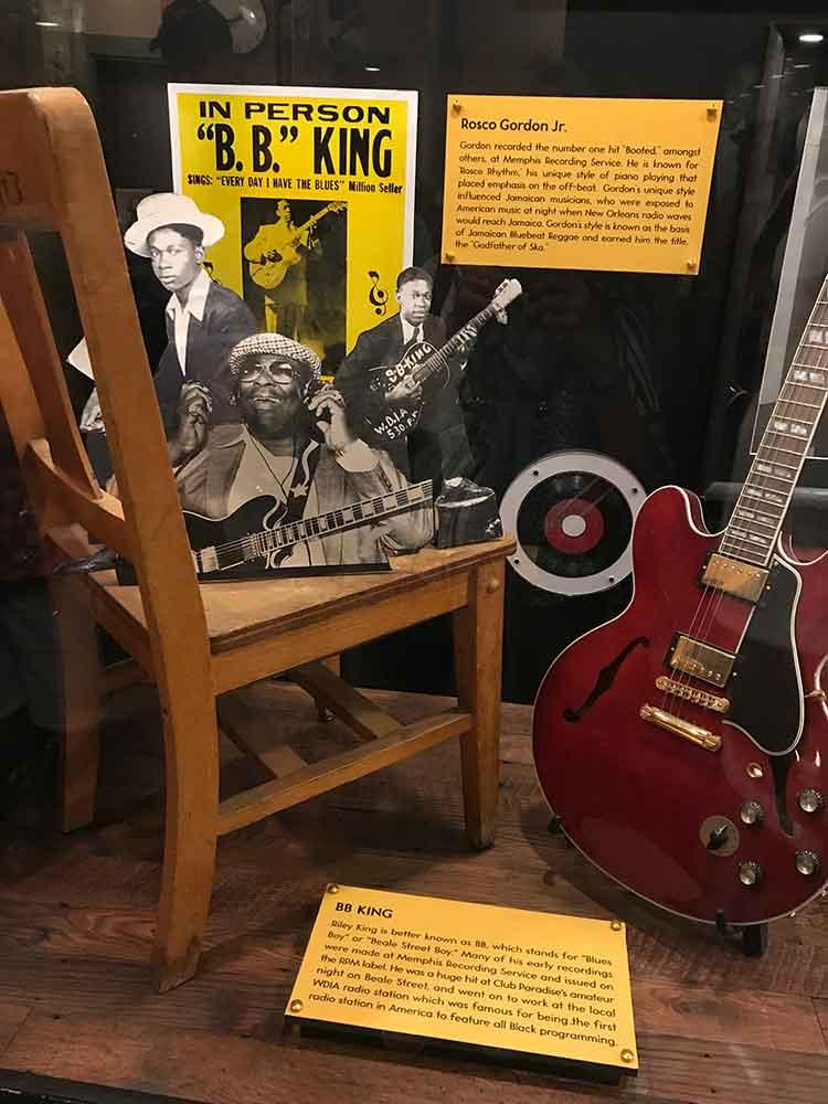 Sun Studio tour - B.B. King memorabilia