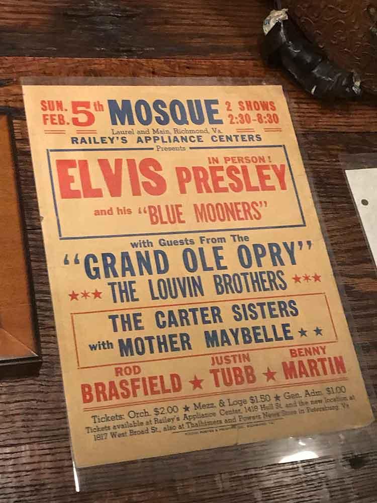 Sun Studio tour - Elvis Presley poster - Grand Ole Opry