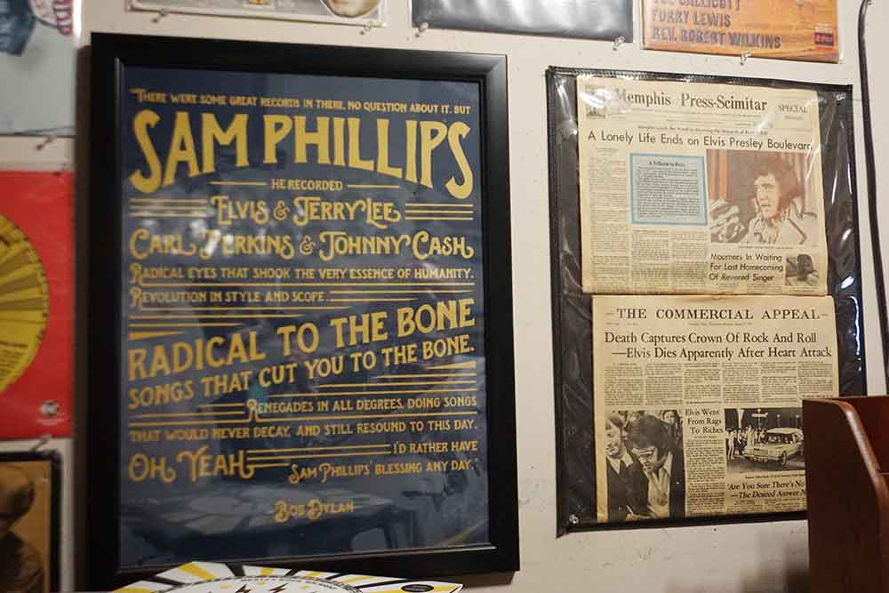 Sun Studio newspaper and postsr